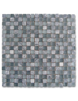 Dune Emphasis Mosaico Grey Glass 29.3 x 29.3cm Ceramic Mosaic Tiles