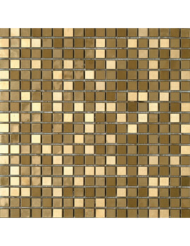 Dune Emphasis Metallic Gold 30.1 x 30.1cm Mosaic Tiles