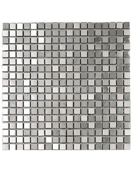 Dune Emphasis Metallic Silver 30.1 x 30.1cm Mosaic Tiles