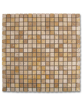 Dune Emphasis Mosaico Travertino Dados 30.5 x 30.5cm  Mosaic Tiles