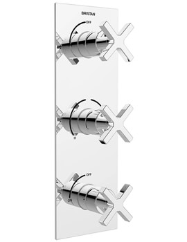 Bristan Cascade Thermostatic Dual Control Valve With Integral Twin Stopcocks