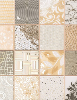 Dune Emphasis Tiffany Marfil 28.1 x 28.1cm Ceramic Wall Tile