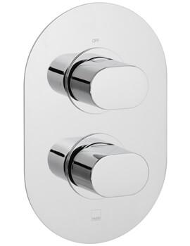 Vado Life Concealed 1 Outlet 2 Handle Thermostatic Shower Valve