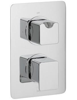Vado Phase Concealed 1 Outlet 2 Handle Thermostatic Shower Valve