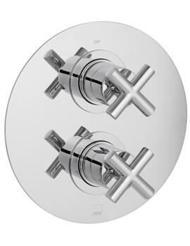 Vado Element Concealed 1 Outlet 2 Handle Thermostatic Shower Valve