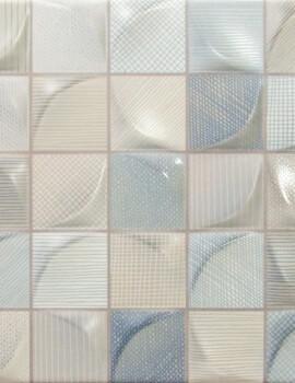Dune Megalos 3D Tissu Light 25 x 25cm Ceramic Wall Tile