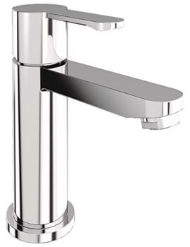 Britton Crystal Basin Mini Mixer Tap Without Pop Up Waste Chrome
