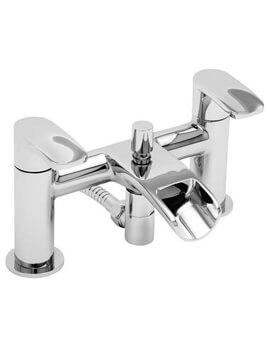 Tre Mercati Ora Pillar Mounted Bath Shower Mixer Tap With Kit