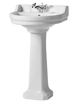 Tavistock Vitoria 550mm 1 Tap Hole Round Basin And Full Pedestal