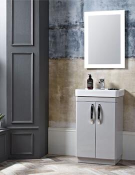 Tavistock Compass 2-Door Floor Standing GLoss White Vanity Unit 500mm