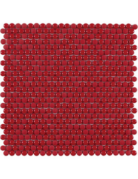Dune Emphasis Dots Red 28.2 x 28.5cm Floor And Wall Tiles