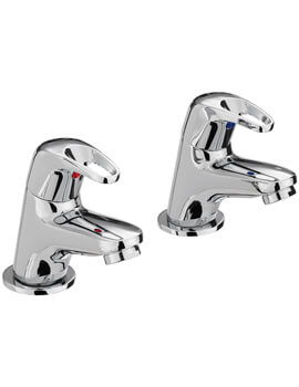 Bristan Cadet Chrome Pair Of Bath Taps