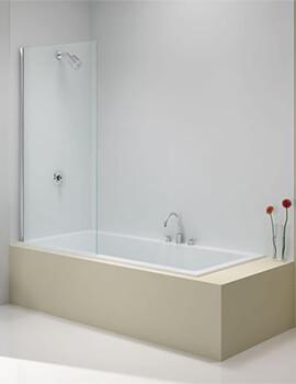 Merlyn Ionic 6mm Glass 800 x 1500mm Fixed Square Bath Screen
