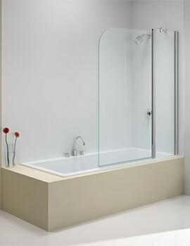 Merlyn Ionic 6mm Glass Two Panel Folding Curved Bath Screen 900 x 1500mm