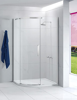 Merlyn Ionic Essence 1200 X 900mm Single Door Offset Quadrant Enclosure Left Handed