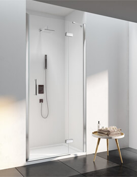 Merlyn 6 Series 760mm Wide Frameless Hinge Door And Inline Panel For Recess
