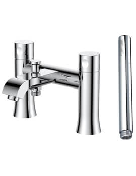 Frontline Aquaflow Edition Basque Bath Shower Mixer Tap With Kit