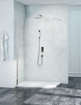 Merlyn 8 Series Curved Wet Room Glass Panel 900mm Wide