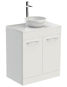 Saneux Austen 710mm 2 Door Unit With Worktop And Basin