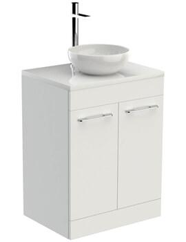Saneux Austen 600mm 2 Door Unit With Worktop And Basin