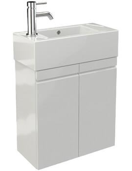 Saneux Matteo 490mm 2 Door Cabinet With Washbasin