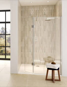 Aqata Design DS446 Left-Hand Entry 1200mm Shower Screen And Hinged Panel For Recess