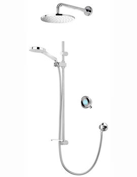 Aqualisa Q With Adjustable And Fixed Wall Heads - HP Or Combi