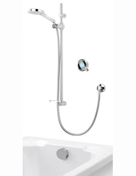 Aqualisa Q With Adjustable Head And Bath Overflow Filler - Gravity Pumped