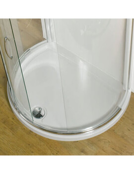 Kudos Concept 1200 x 910mm Peninsula Shower Tray