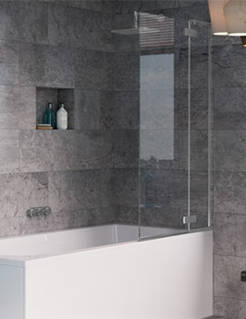 Crosswater Svelte Single Bath Screen With Inline Panel