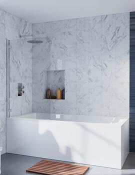 Crosswater Infinity Single Bath Screen 900 x 1385mm