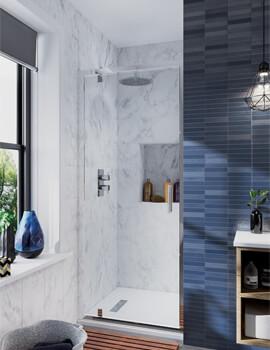 Crosswater Infinity 900mm Wide Pivot Shower Door