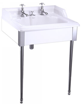 Burlington Classic Basin With Invisible Overflow And Stand
