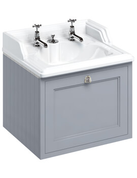 Burlington Wall Hung 65cm 1 Drawer Unit And Classic Invisible Overflow Basin