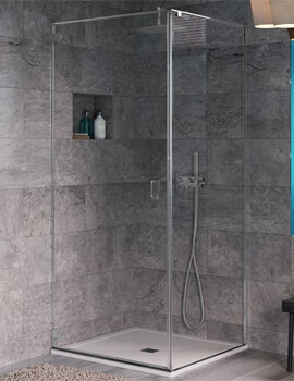 Crosswater Svelte Wall Mounted Hinged Shower Door 800mm