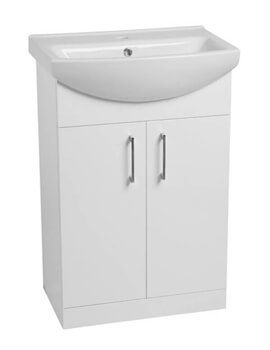 Tavistock Opal Gloss White Freestanding 500mm Unit With Basin