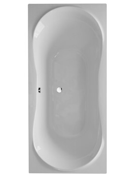 Frontline Comet 1800 x 800mm Round Double Ended Straight Bath