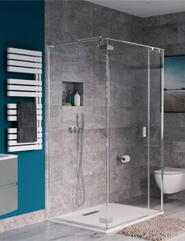 Crosswater Svelte Three Sided Hinged Door Shower Enclosure 900 x 900mm