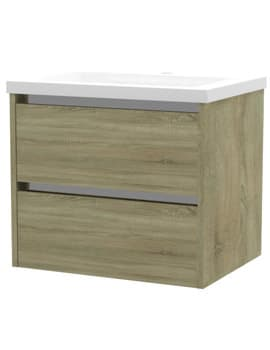 Frontline Aquatrend City 2 Drawer Wall Hung Vanity Unit With Basin