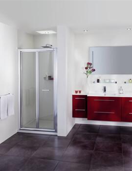Aqata Exclusive ES265 Bi-Fold Door Corner Shower Enclosure 760 x 760mm