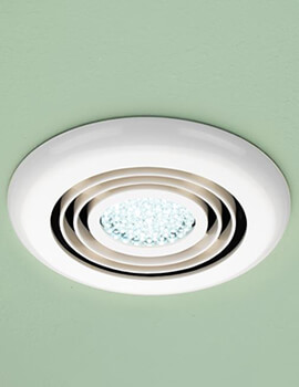 HIB Turbo Illuminated Ceiling Extractor White Fan With Built-In Cool White LED