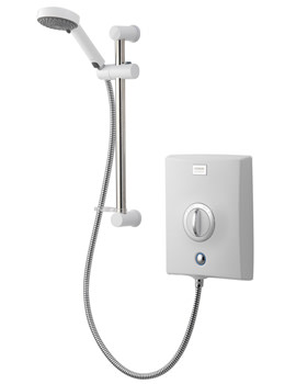 Aqualisa Quartz Exposed Electric Shower With Slide Rail Kit