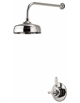 Aqualisa Aquatique Concealed Valve With 8 Inch Fixed Drencher Head