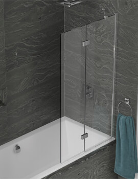 Kudos Inspire 875 x 1500mm 2 Panel In-Fold Bath Screen