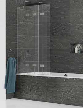 Kudos Inspire 950 x 1500mm 4 Panel Compact In-Fold Bath Screen
