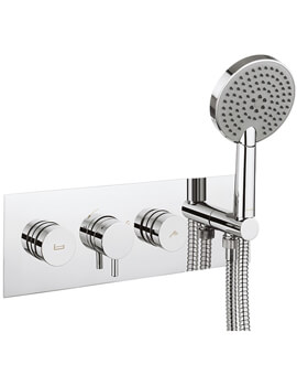 Crosswater Dial Bath - Shower Valve With Kai Lever Trim And Ethos Handset - DIAL-KAI-12