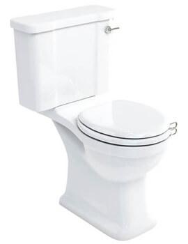 Burlington Arcade Open Back Close Coupled WC Pan With Dual Flush Cistern