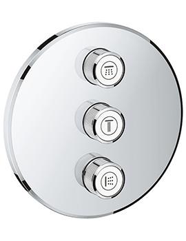 Grohe Grohtherm SmartControl Chrome 3 Volume Control Trim