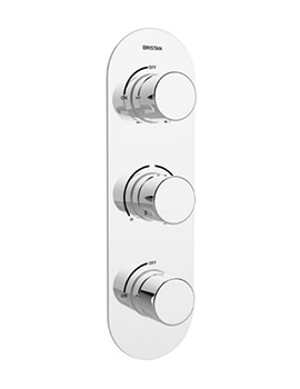 Bristan Exodus Recessed Thermostatic Dual Control Shower Valve