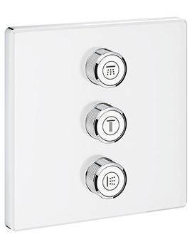 Grohe Grohtherm SmartControl Moon White Triple Volume Control Trim